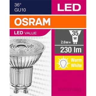 Osram Value 2,6W/827 35 PAR16 GU10 230 lumen LED spot izzó PC