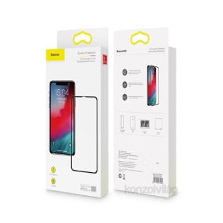 Baseus Full-coverage iPhone Xr 6.1 fekete 0.3 mm edzettüveg kijelzővédő fólia Mobil
