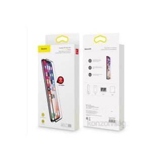 Baseus iPhone Xr 6.1 repedésálló kékfényszűrős fekete 0.23mm edzettüveg kijelzővédő fólia Mobil