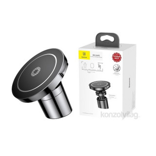 Baseus Big Ears QI fekete vezeték nélküli autós tartó és töltő