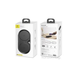 Baseus Dual fekete asztali vezeték nélküli töltőpad Mobil