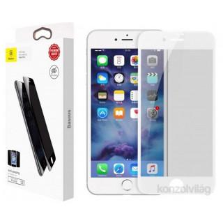 Baseus Soft Edge iPhone 7/8 fehér 0.23mm páramentes kijelzővédő fólia Mobil