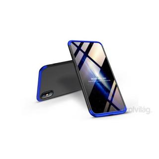 GKK GK0279 3in1 iPhone XS Max fekete/kék három részből álló védőtok PC