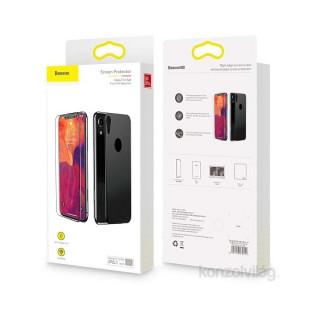 Baseus Rigid-edge iPhone Xr 6.1 lekerekített fekete 0.3mm anti-spy edzettüveg kijelzővédő fólia Mobil