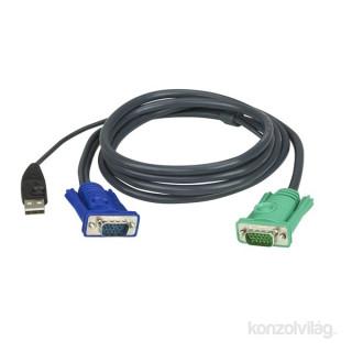 ATEN 2L-5202U KVM Kábel USB VGA 1,8m PC