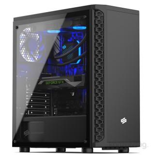 SilentiumPC Signum SG1M TG Fekete (Táp nélküli) ablakos ATX ház PC