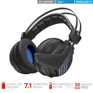 Trust GXT 393 Magna Wireless 7.1 Surround gamer USB headset PC