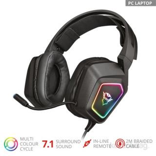 Trust GXT 450 Blizz RGB 7.1 Surround gamer USB headset