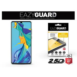 EazyGuard LA-1462 Huawei P30 fekete 2.5D üveg kijelzővédő fólia Mobil
