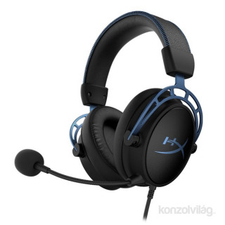 HyperX Cloud Alpha S fekete-kék Gamer headset (HX-HSCAS-BL/WW)