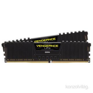 Corsair 32GB/3200MHz DDR-4 VENGEANCE LPX fekete (Kit 2db 16GB) (CMK32GX4M2B3200C16) memória