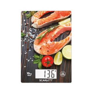 Scarlett SCKS57P37 hal mintás digitális konyhai mérleg