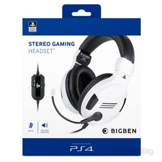 Stereo Gaming V3 fehér PS4/PC headset (BigBen)