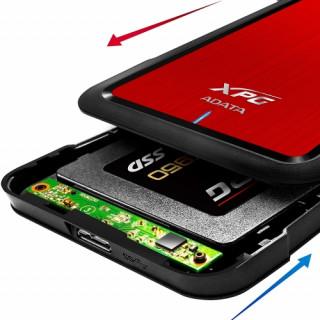 ADATA EX500 piros (AEX500U3-CRD) USB 3.1 külső SSD/HDD ház