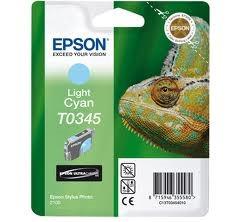 Epson világos cián tintapatron, 1 darab, T0345, Ultra Chrome PC