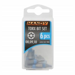 HANDY - 6 db-os bit készlet tárolóval, Torx (T): T8, T9, T10 PC