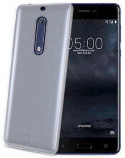 Celly Nokia 5 szilikon hátlap, Átlátszó Mobil
