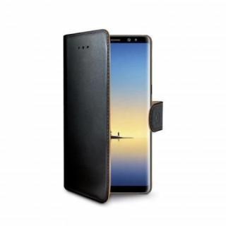 Celly Galaxy Note 8 oldalra nyíló tok, Fekete Mobil