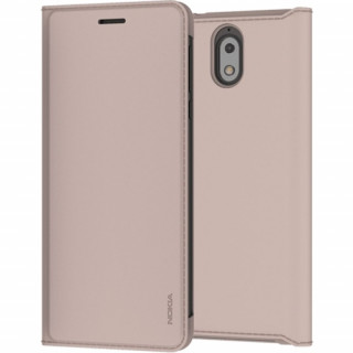 Nokia 3.1 flip cover tok, Cream Mobil