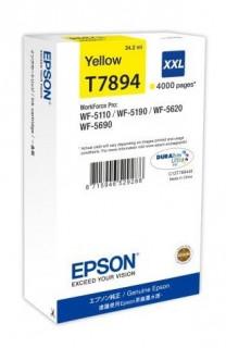 Epson sárga tintapatron, XXL, T7894, WF-5000 sorozathoz, 4.000 oldal PC