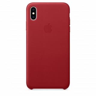 Apple iPhone XS Max bőr hátlap, Piros Mobil