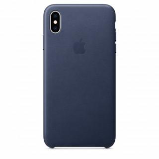 Apple iPhone XS Max bőr hátlap, Sötétkék Mobil