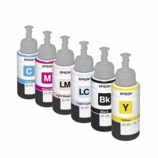 Epson világoskék tintatartály, T6735, L800, L805, L810, L850, L1800 nyomtatóhoz PC