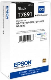Epson fekete tintapatron, XXL, T7891, WF-5000 sorozathoz, 4.000 oldal PC