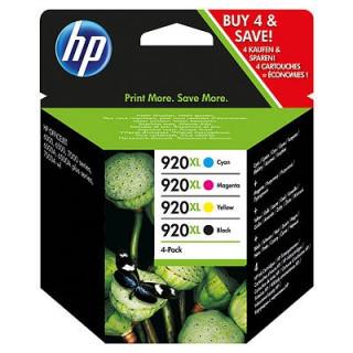 HP 920XL 4 darabos nagy kapacitású fekete/ciánkék/bíbor/sárga tintapatronok PC
