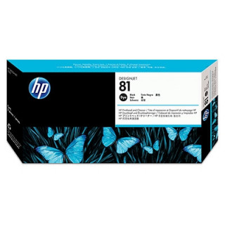 HP 81 fekete nyomtatófej és nyomtatófej-tisztító festékalapú tintához PC