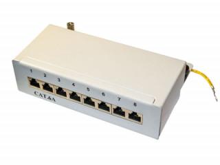 Rainbow FTP cat6A fém boksz 8 portos PC