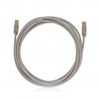 Kategória 6A, 10Giga patch kábel STP, 2 m, LSOH halogénmentés, szürke PC