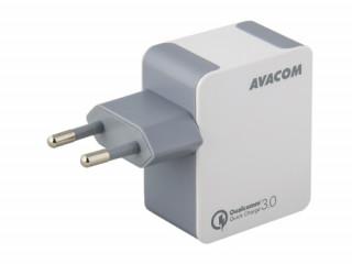 AVACOM HomeMAX hálózati töltő, Qualcomm Quick Charge 3.0, fehér Mobil