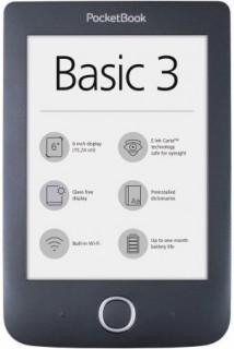 PocketBock Basic3  E-Book olvasó fekete Több platform