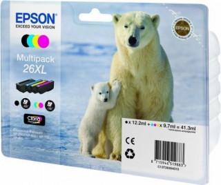 Epson fekete + színes tintapatron, 4-colours 26XL, Claria Premium tinta PC
