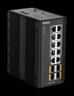 D-link 14 Port L2 Managed Switch with 10 x 10/100/1000BaseT(X) ports (8 PoE) & 4 PC