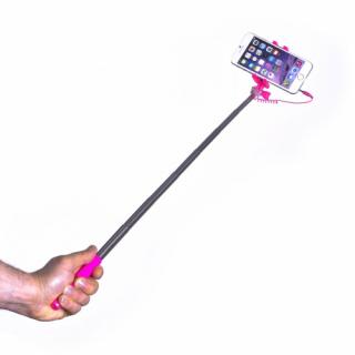 Celly mini selfie bot, jack csatlakozós, pink