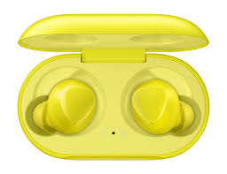 Samsung Galaxy Buds gyári bluetooth headset, Sárga Galaxy Buds Mobil