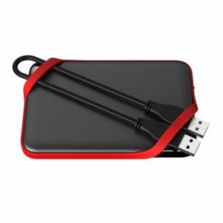 Silicon Power Külso HDD - A62, USB 3.0, 3TB, Ütésálló, IPX4, Black/Red