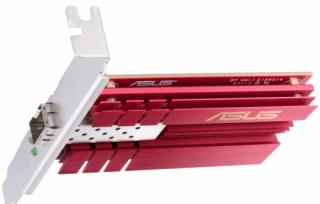 Asus XG-C100F 10G PCIe gigabit Wi-Fi hálózati kártya SFP+ porttal az optikai szálas átvitelhez és DAC kábelhez