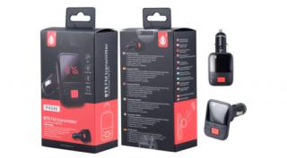 BH1018 P4546 Fm transmitter, beépített mikrofon kihangosítóhoz, USB kimenet eszk