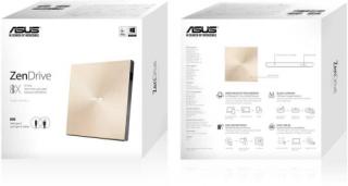 ASUS SDRW-08U9M-U/GOLD/G/AS Külső arany Dobozos DVD Író PC