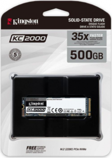 Kingston 500GB M.2 NVMe 2280 KC2000 (SKC2000M8/500G) SSD PC