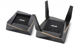 Asus RT-AX92U 2 darabos AX6100 Mbps Tri-band WiFi 6 gigabit AiMesh OFDMA gaming Wi-Fi rendszer