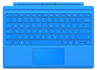 Surface Pro 4 Type Cover (EngIntl PL) világoskék Tablet