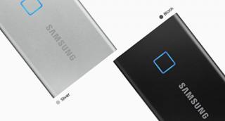 Samsung T7 Touch external Silver , USB 3.2, 1TB