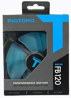 RIOTORO FB120 Gépház ventilátor Kék LED PC