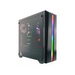 RIOTORO CR100TG Mid-Tower RGB Gamer Gépház PC