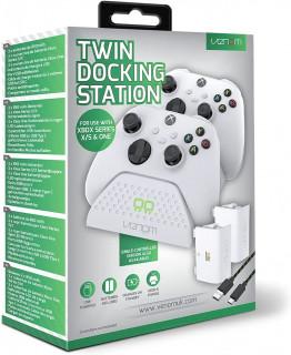 VENOM VS2871 Xbox Series & One fehér dupla töltőállomás+ 2db akkumulátor