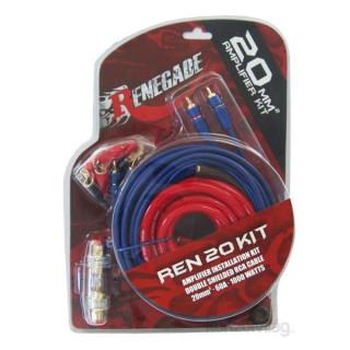 Renegade REN20KIT autóhifi erősítő beszerelő szett PC